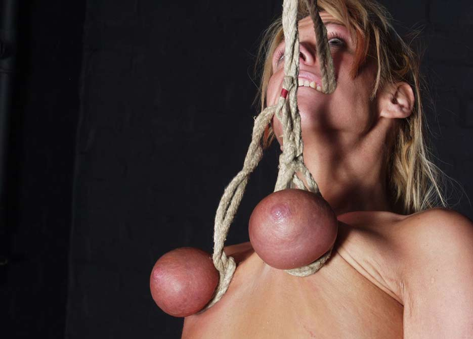 Extreme tit breast bondage rather grateful