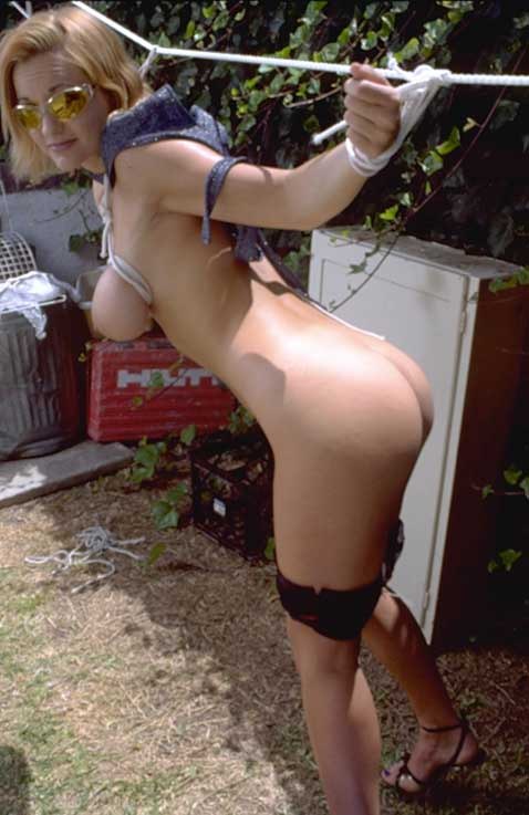 Amateur female outdoor bondage assured
