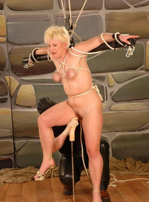 image Masked amp bound blonde face and pussy fucked