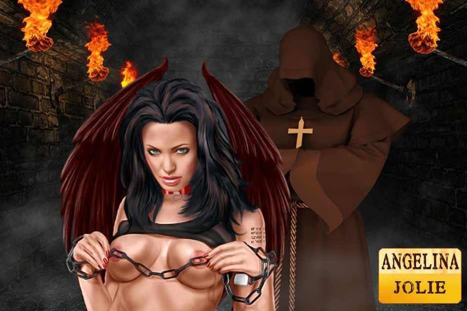 Celebs Angelina Jolie And Kristen Bell Tortured In Dungeon
