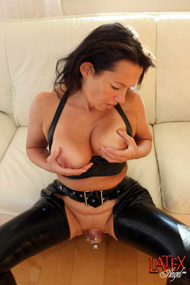 Cannot tell Latex angel pussy pump