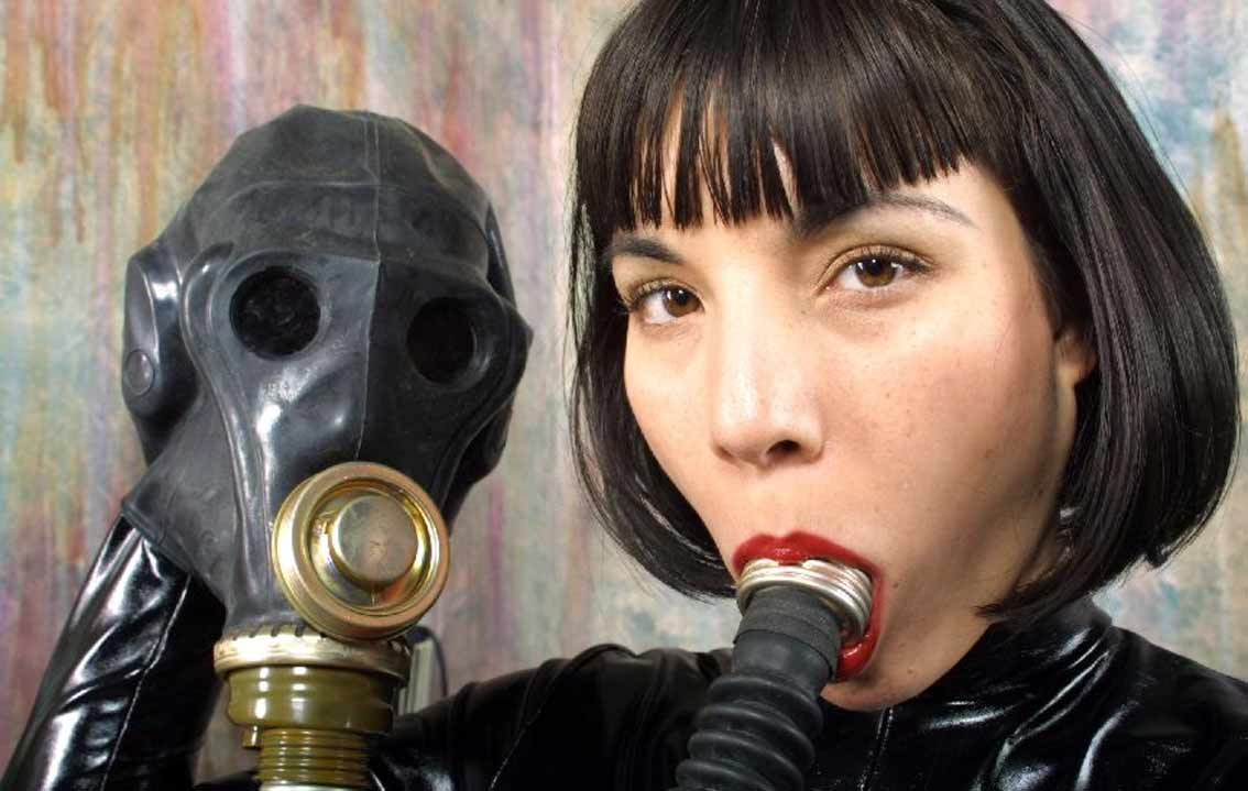 Gas mask during sex