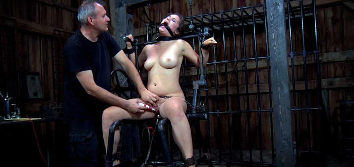 Caged bdsm sub sucks doms cock before riding 5