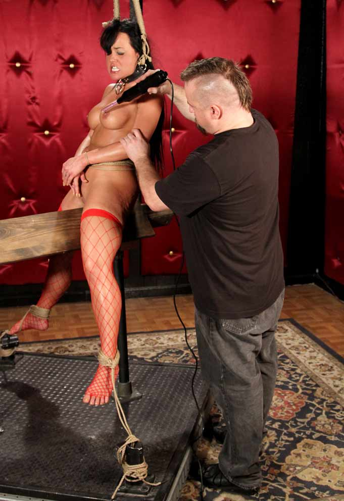 Brute Riding Wooden Pony Free Bdsm Pics